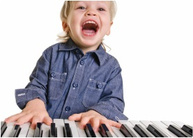 Boy Laughing Playing Face On