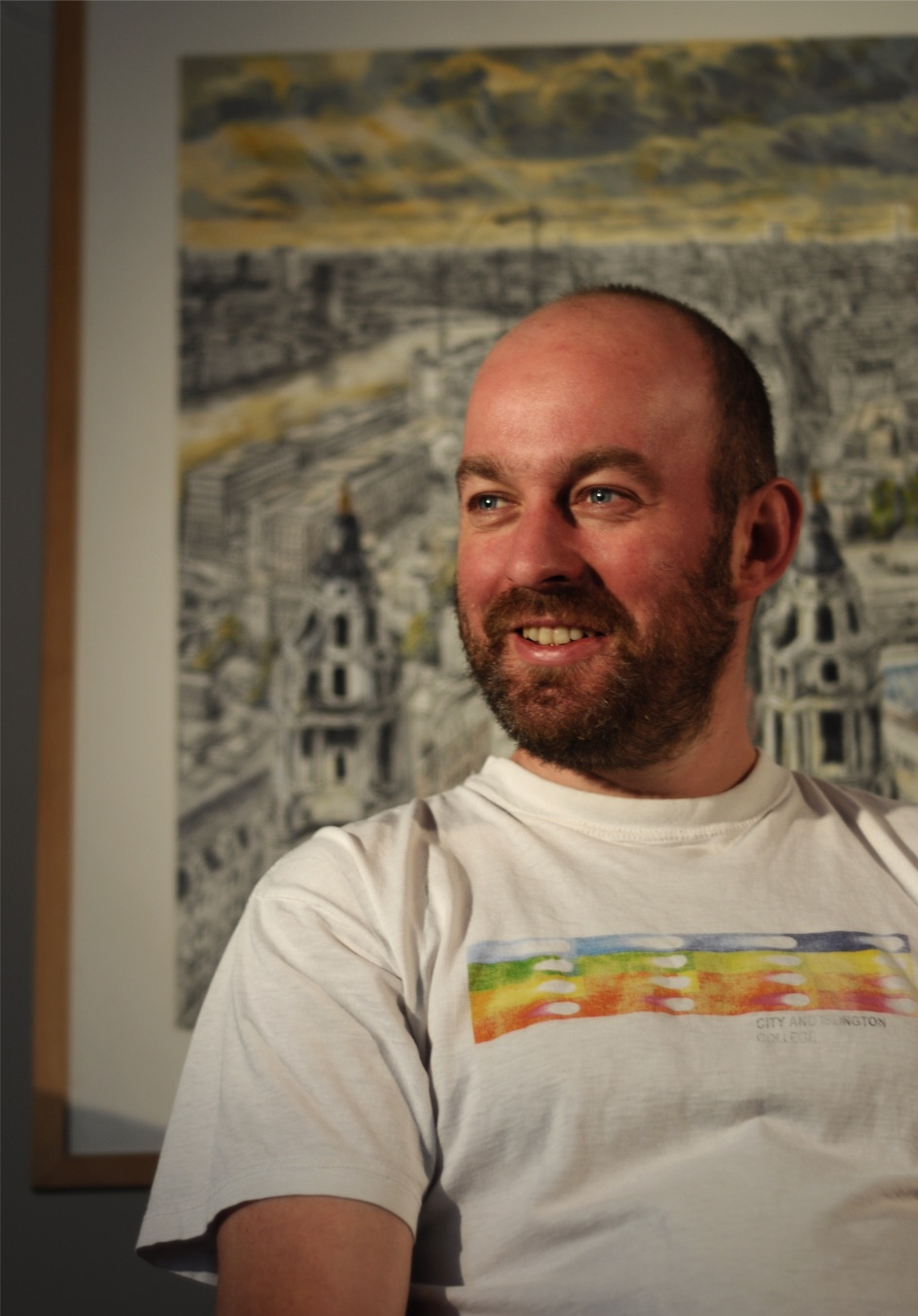 Artist David Downes paints public mural to launch new ITV